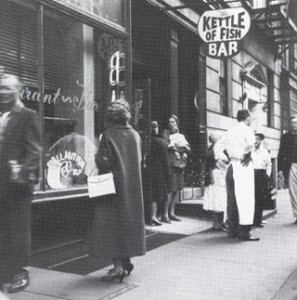 The original Gaslight Cafe, located below The Kettle of Fish.