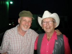 A.S. and Charlie Louvin, backstage at GP/GP.