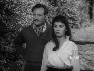 Trevor Howard & Jean Simmons in THE CLOUDED YELLOW