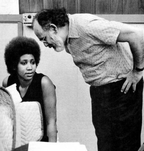 Jerry and Aretha in the studio, late Sixties