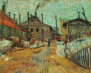 THE FACTORY by Vincent Van Gogh (1887)