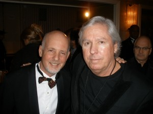 A.S. with a strangely oversized James Williamson, Stooges guitarist.
